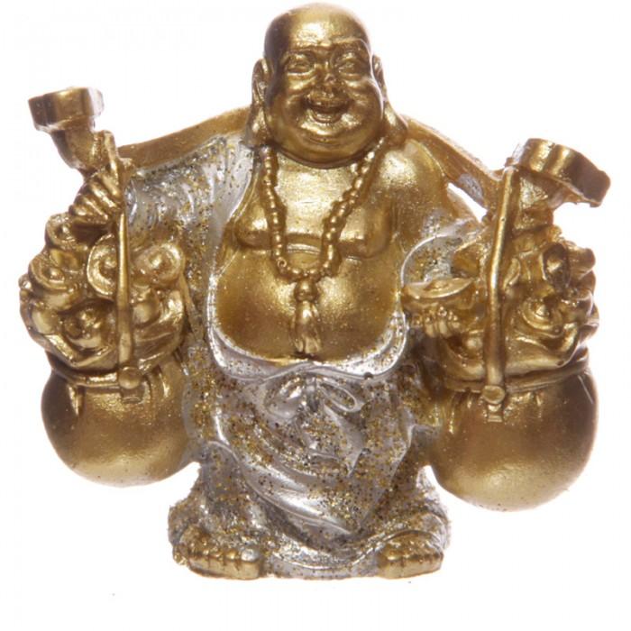 Figurine Bouddha Porte Bonheur Argent B Statuettes