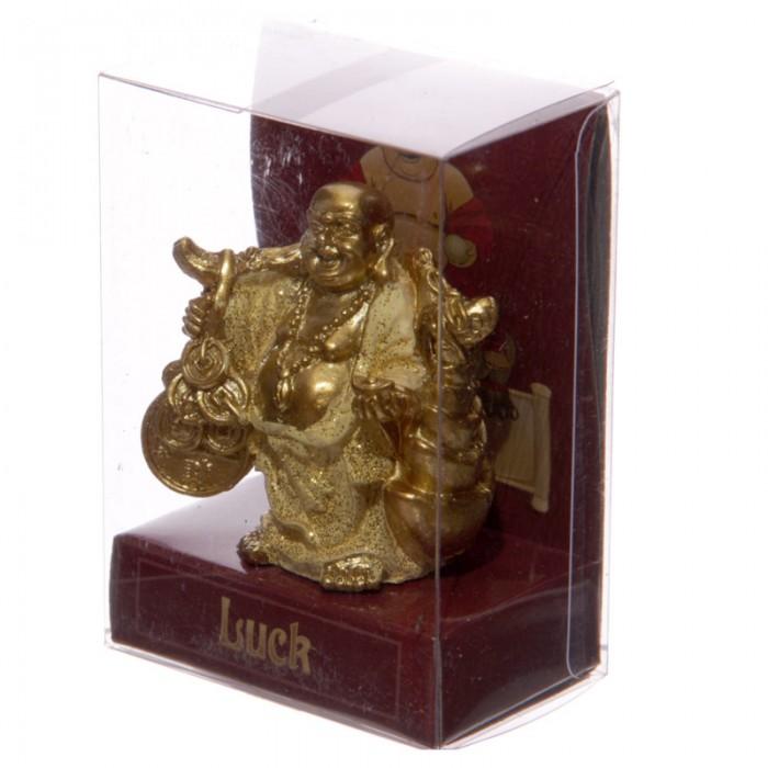 Figurine Bouddha Porte Bonheur Jaune C Statuettes