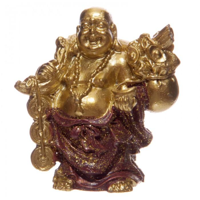 Figurine - Bouddha porte-bonheur, Rouge (D)