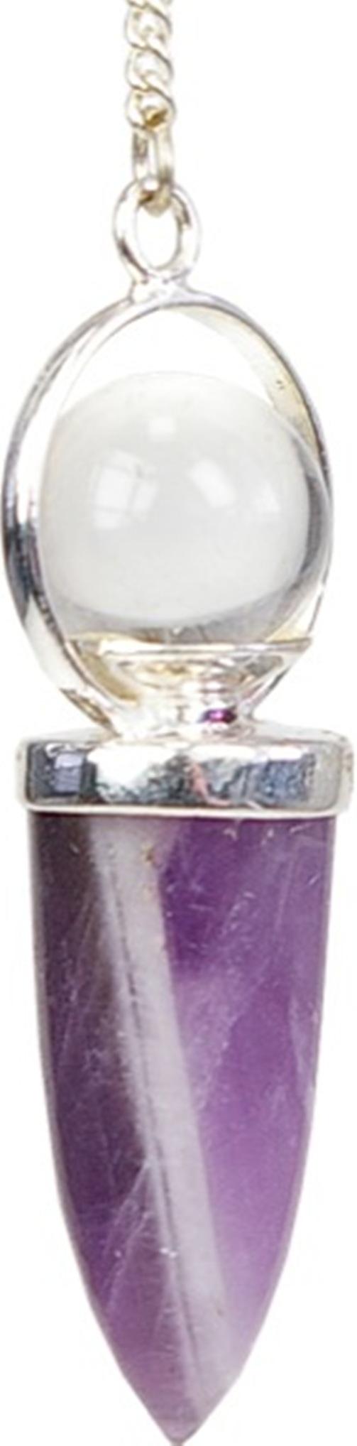Pendule Améthyste avec Bille de cristal