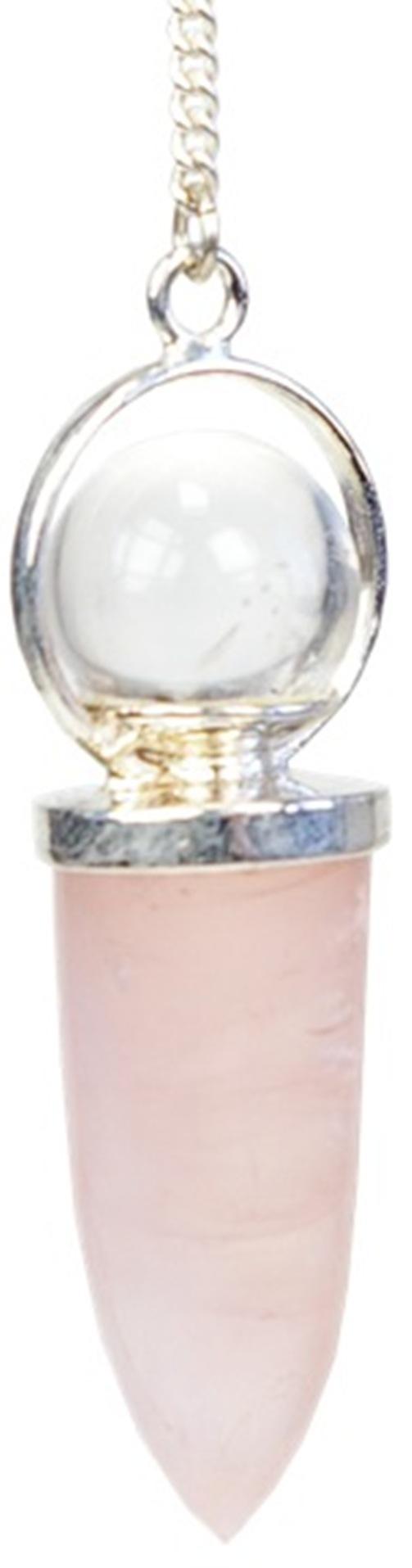 Pendule Quartz Rose avec Bille de cristal