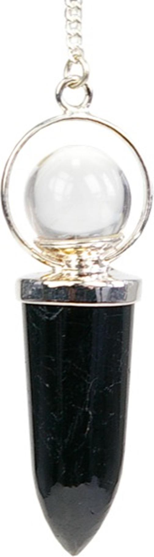 Pendule Tourmaline Noire avec Bille de cristal