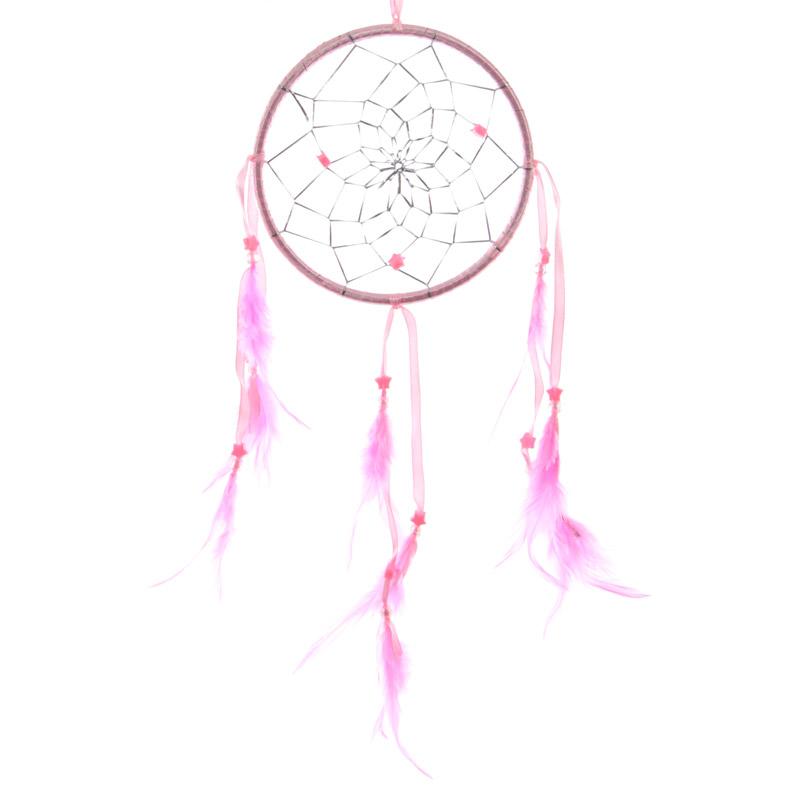 Attrape–rêves en Plumes, Rose 15cm