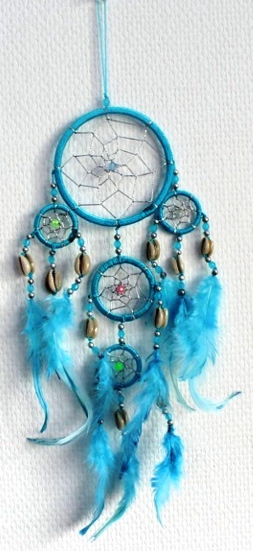 Capteur de rêves Turquoise - 9 cm