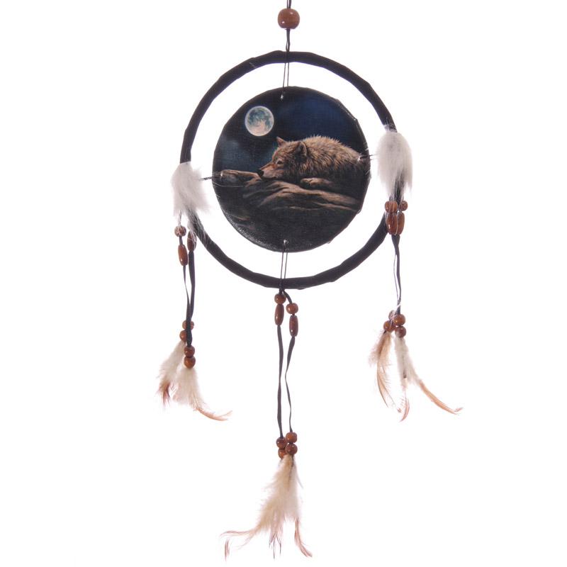 Attrape-rêve Imprimé Lisa Parker Loup sous La Lune 16 cm