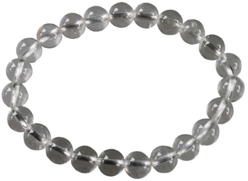 Bracelet Cristal de Roche Perles Rondes (8 mm)