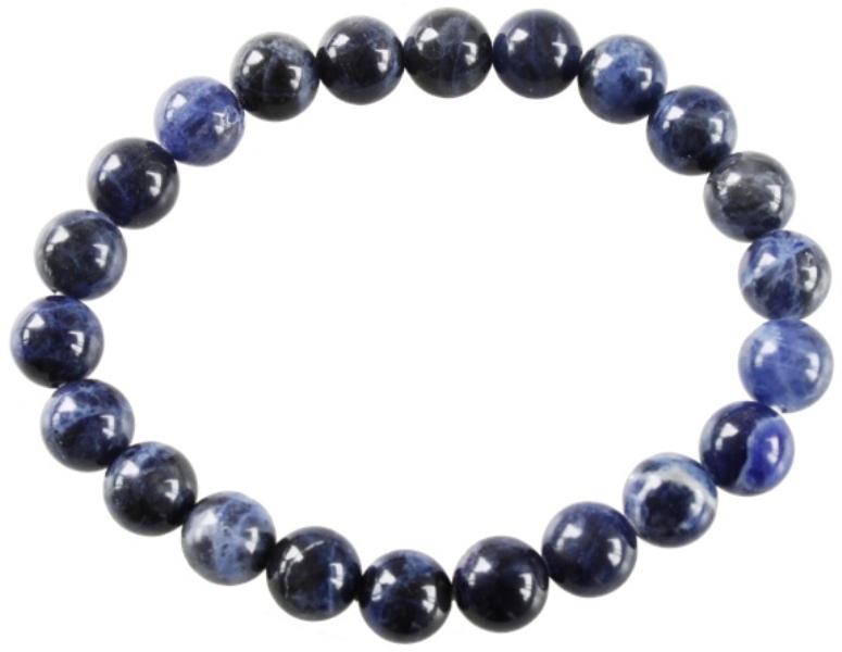 Bracelet Perles Rondes Sodalite (8 mm)