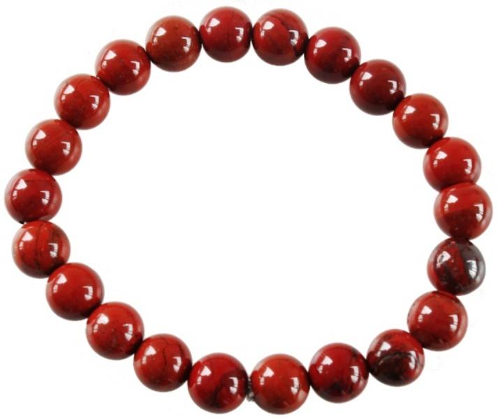 Bracelet Jaspe Rouge Perles Rondes (8 mm)