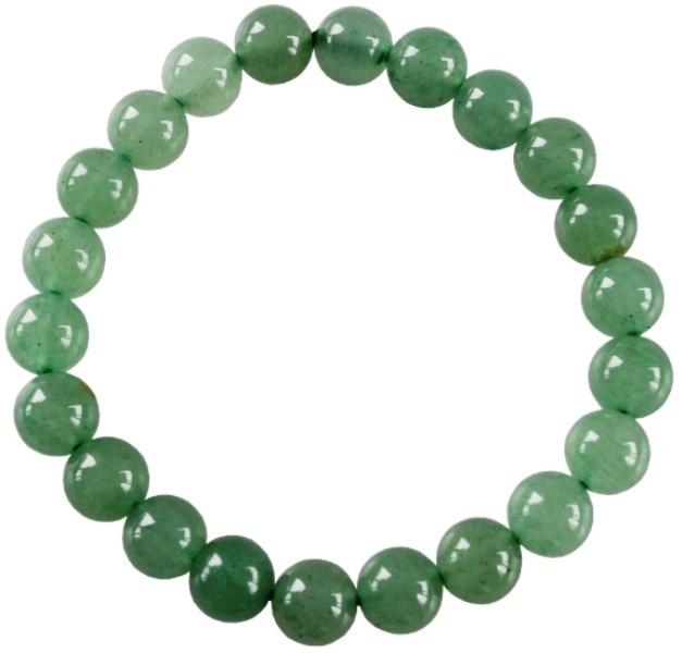 Bracelet Aventurine Verte Perles Rondes (8 mm)