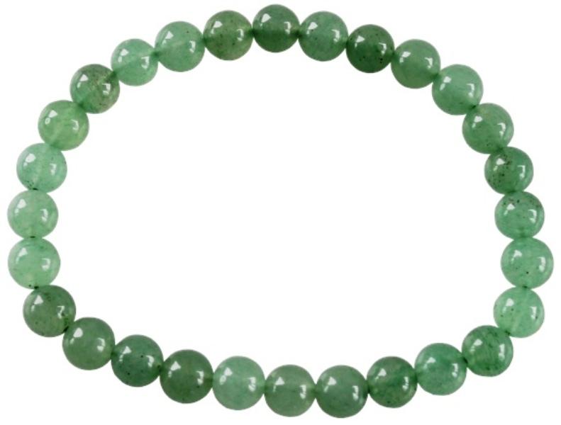 Bracelet Perles Rondes Aventurine Verte - 6 mm