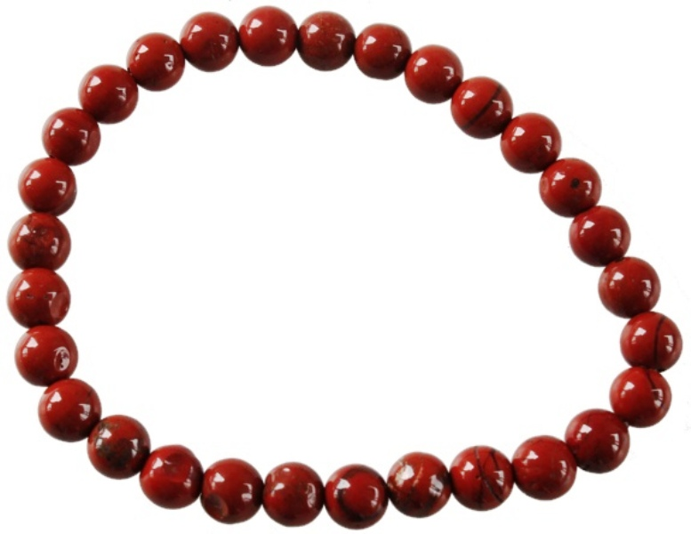 Bracelet en Jaspe Rouge | Perles de 6 mm