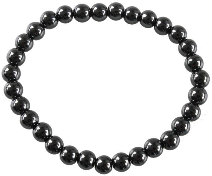 Bracelet Hématite Perles Rondes  ( 6 mm )