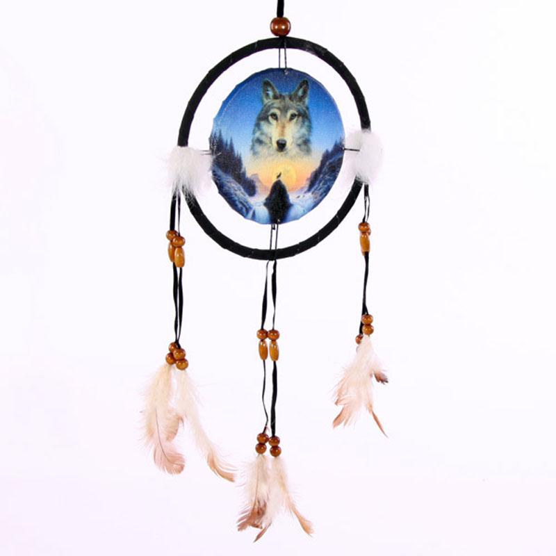 Attrape-rêves Loup et Crépuscule 16cm
