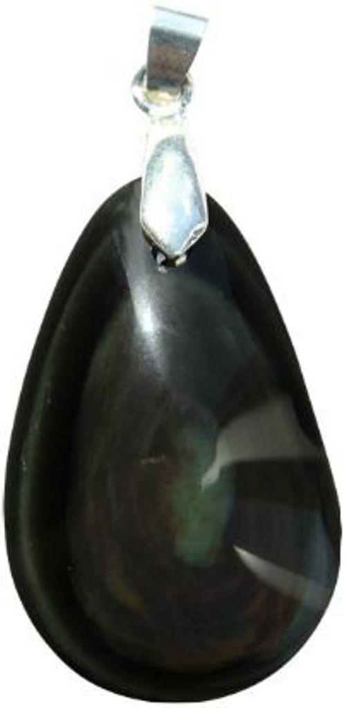 Pendentif Obsidienne Oeil Céleste double face