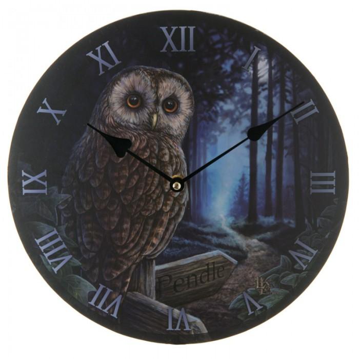 Horloge Ronde - Chouette, le Chemin de la Sorcière par Lisa Parker
