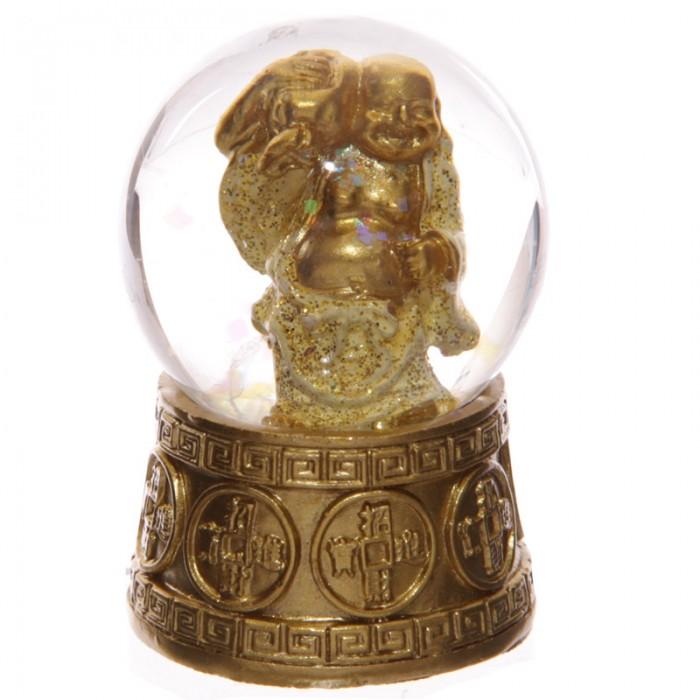 Boules à neige, Bouddhas rieur porte-bonheur, Jaune ( A )