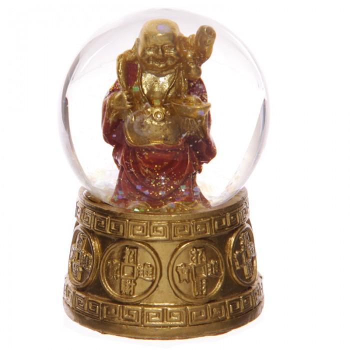 Boules à neige, Bouddhas rieur porte-bonheur, Rouge ( D )