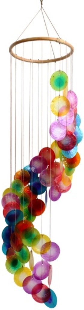 Mobile coquillages - Arc-en-Ciel - Spirale ( 80 cm )