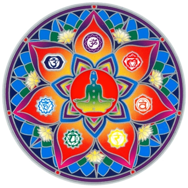Autocollant Attrape Soleil - 7 Chakras Lotus
