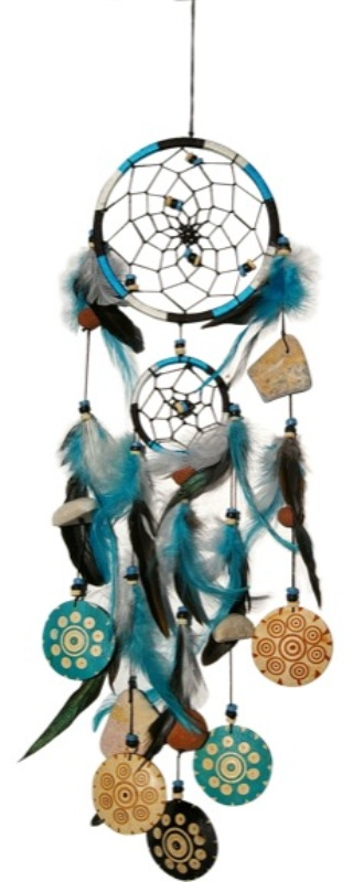 Attrape Rêves Bleu Turquoise ( Petit - 12cm )