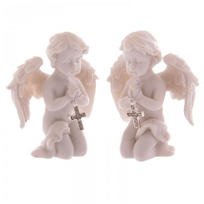 Ange Priant avec une Croix ( Lot de 2 )