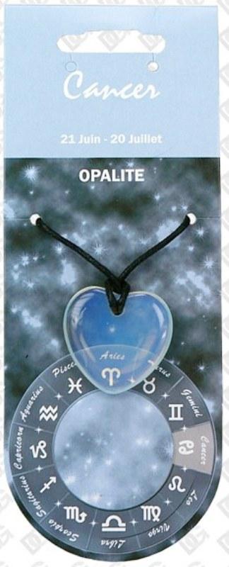 Pendentif Coeur en Opalite Zodiac Cancer