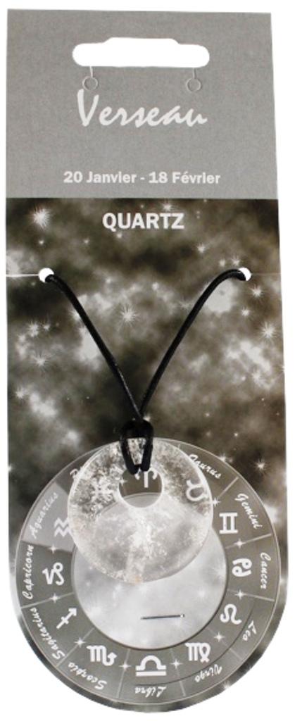 Pendentif Donut en Quartz Claire ( Verseau )