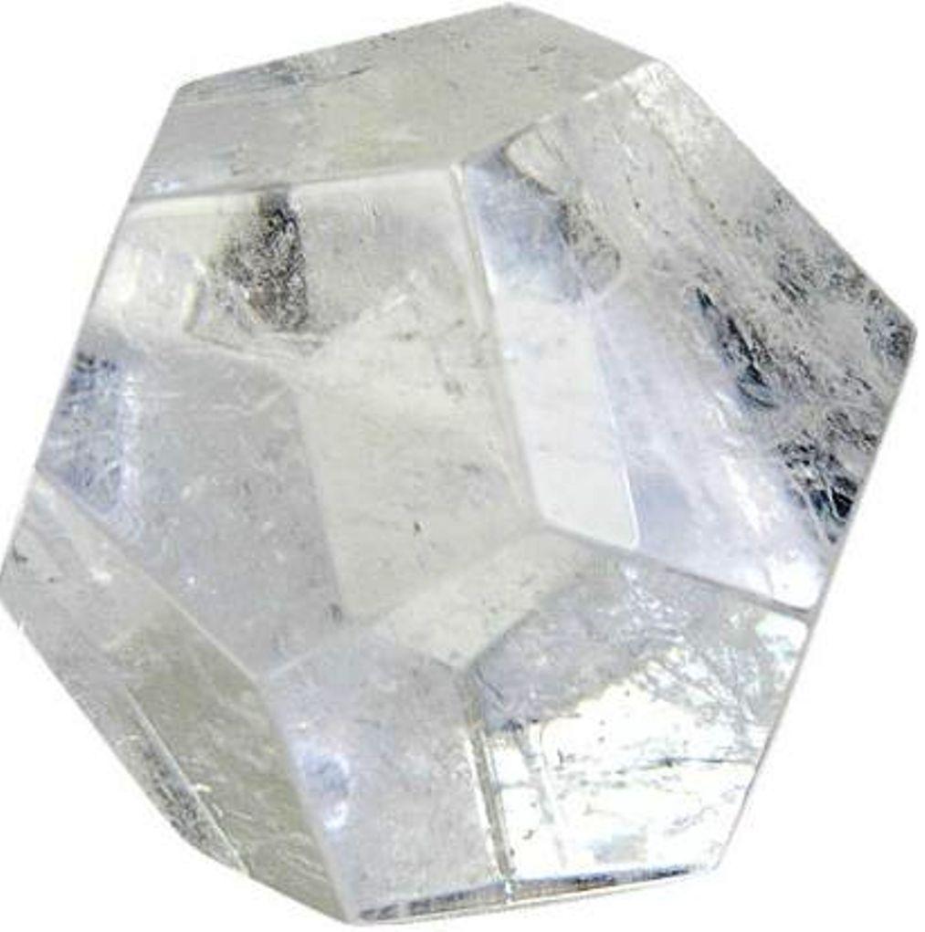 Dodécaèdre en Cristal de roche ( 3 cm )