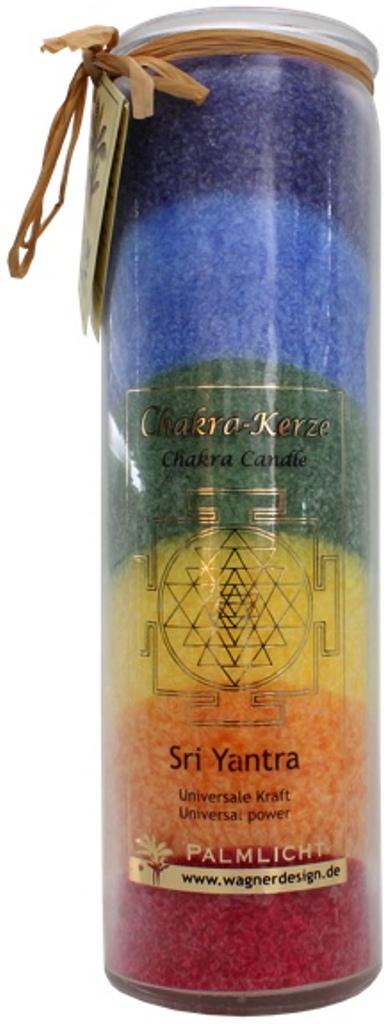 Bougie 7 Chakras Multicolore - Sri Yantra - ( 20 cm )  40816