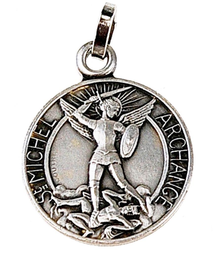 Médaille St Michel argentée