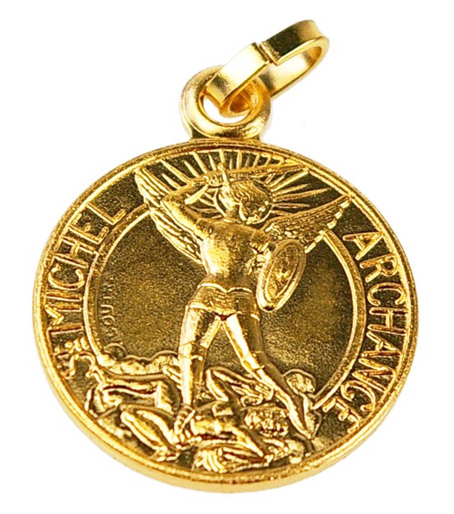 Médaille St Michel dorée