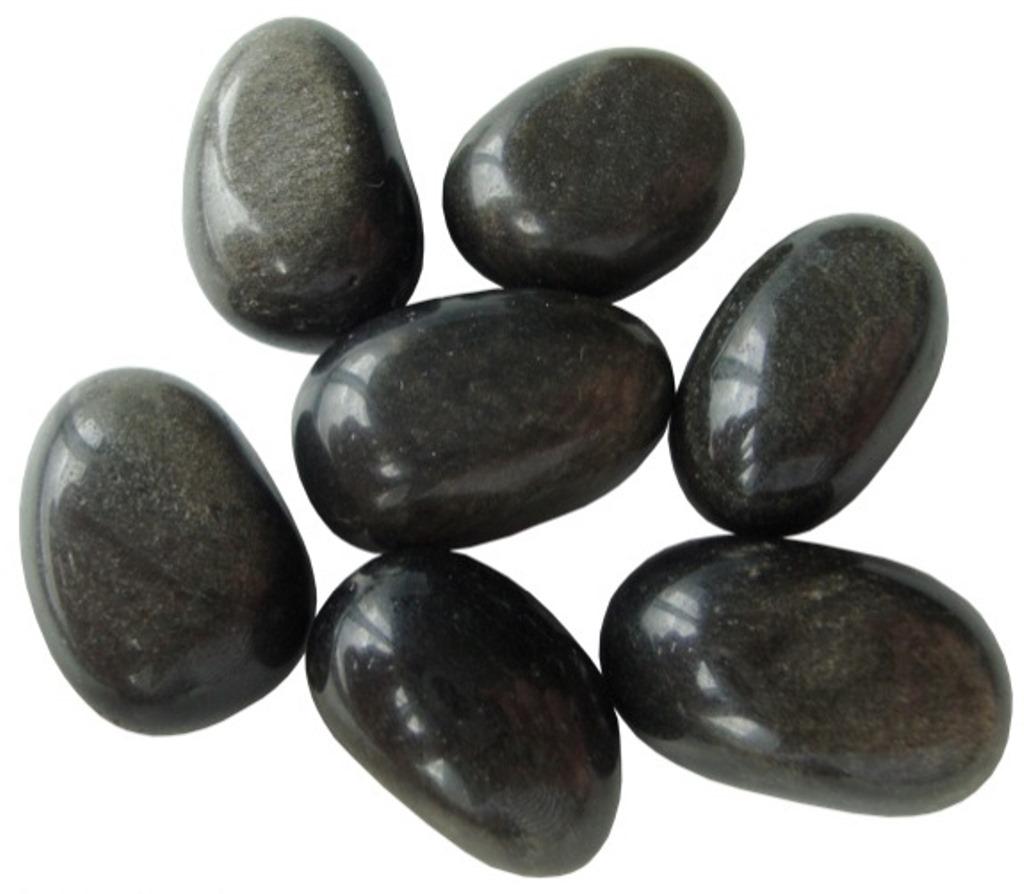 Obsidienne Dorée Roulée - La pièce (3 cm)