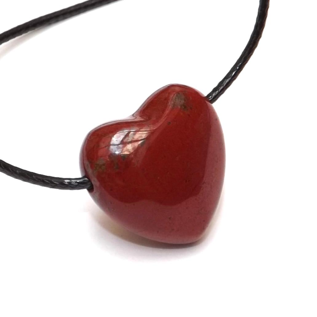 Pendentif Coeur Jaspe Rouge ( 2,5 cm )