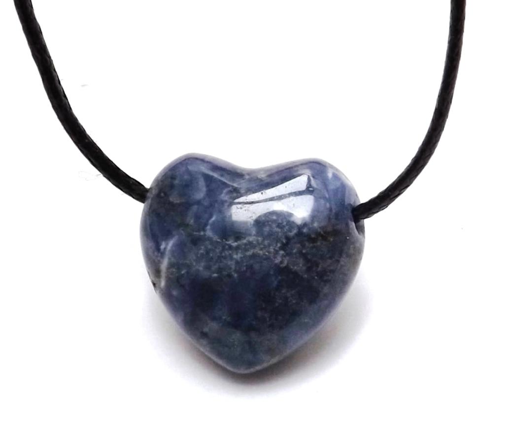 Pendentif Coeur Sodalite ( 2,5 cm )