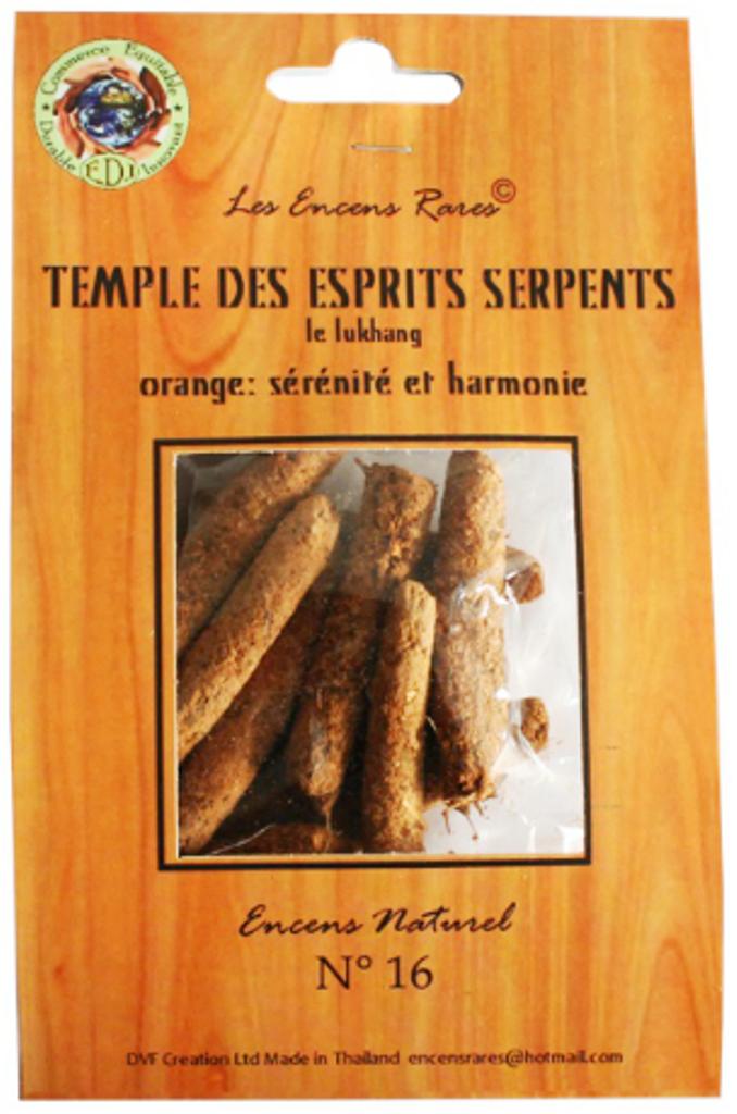 Temple des esprits serpents - Sérénité - (Encens rares 25 gr)