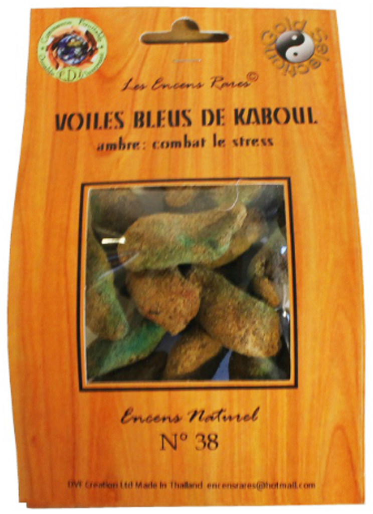 Voiles bleues Kaboul - Contre-stress - (Encens rares 25 gr)
