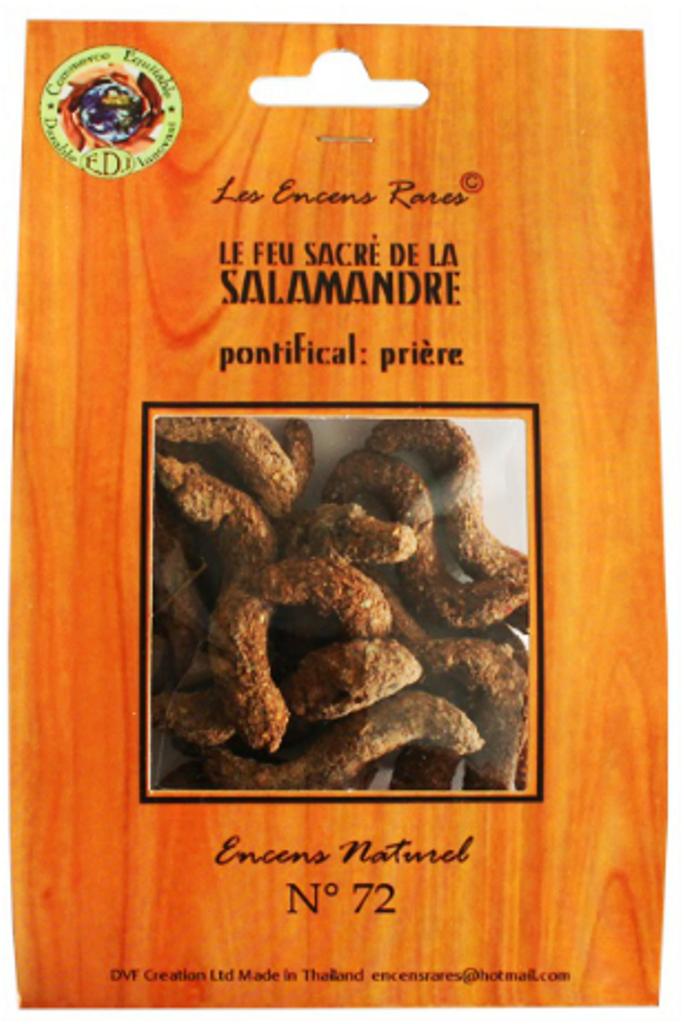 Le Feu sacré de la Salamandre - Prières - (Encens rares 25 gr)