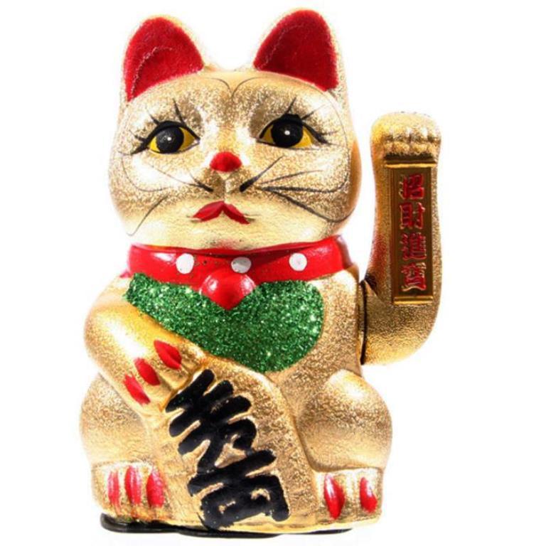 Chat porte bonheur, Feng-shui ( Maneki Neko 21 cm )
