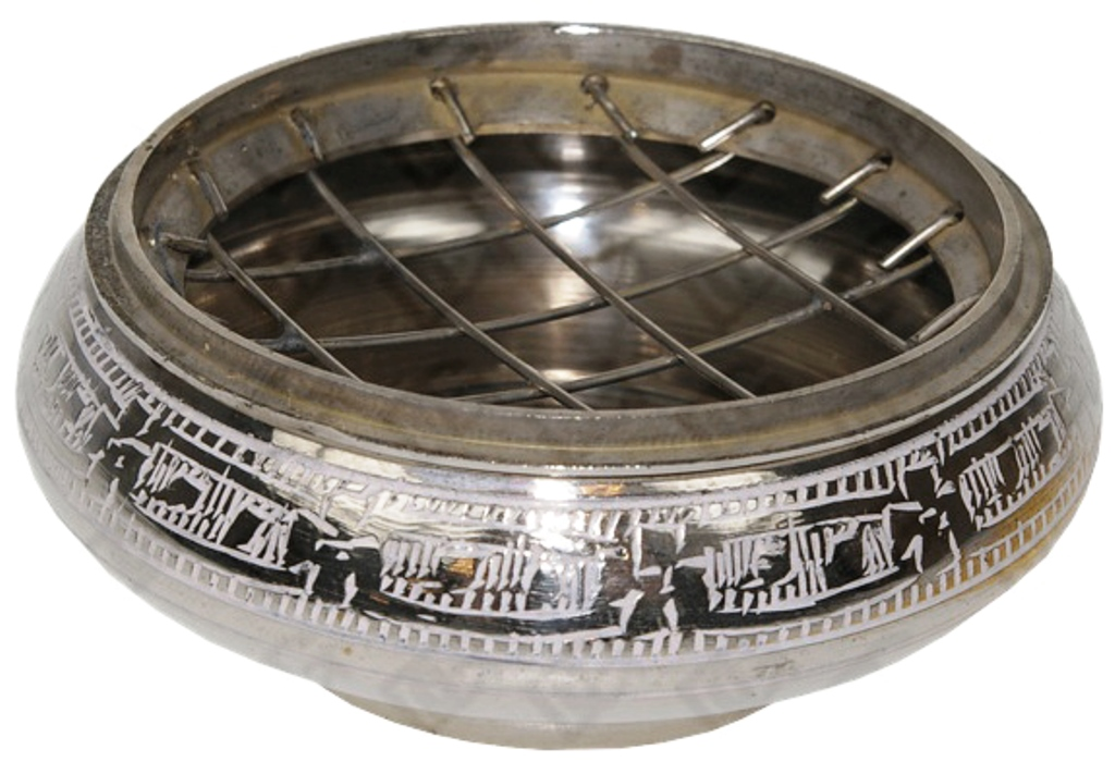 Brûle Encens Foyer Argenté | Diamètre 7 cm