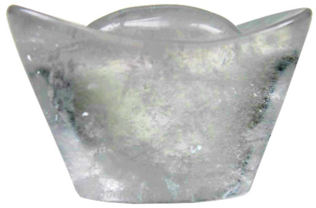 Lingot en Cristal de Roche ( Porte-Bonheur )