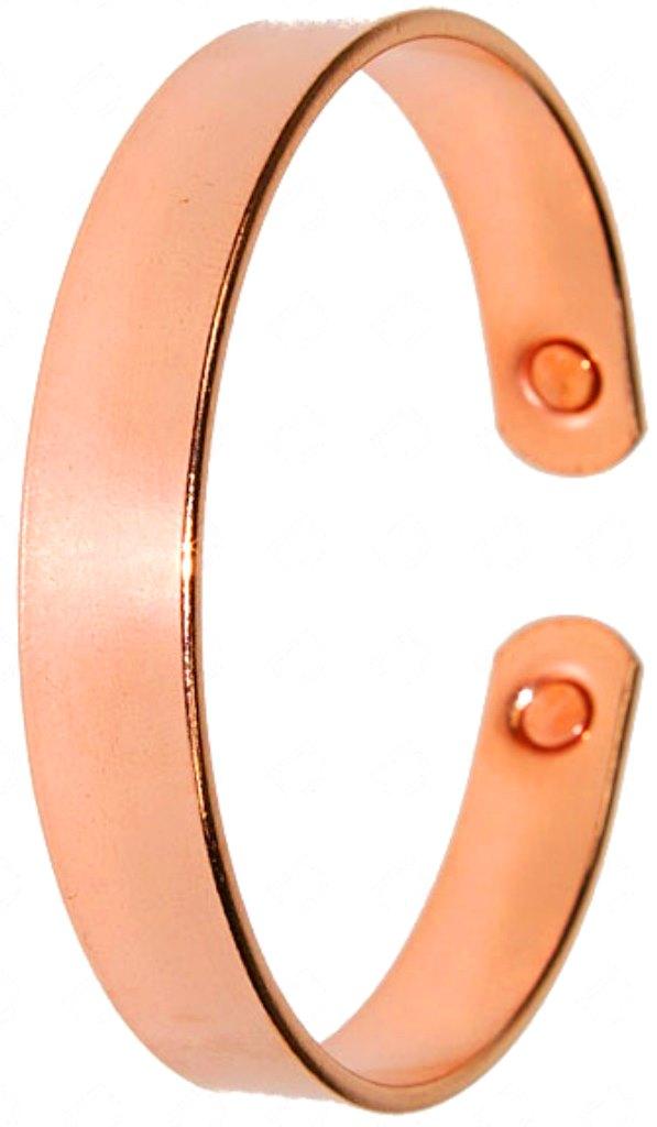 Bracelet Cuivre Plat avec Aimants | Largeur 10 mm