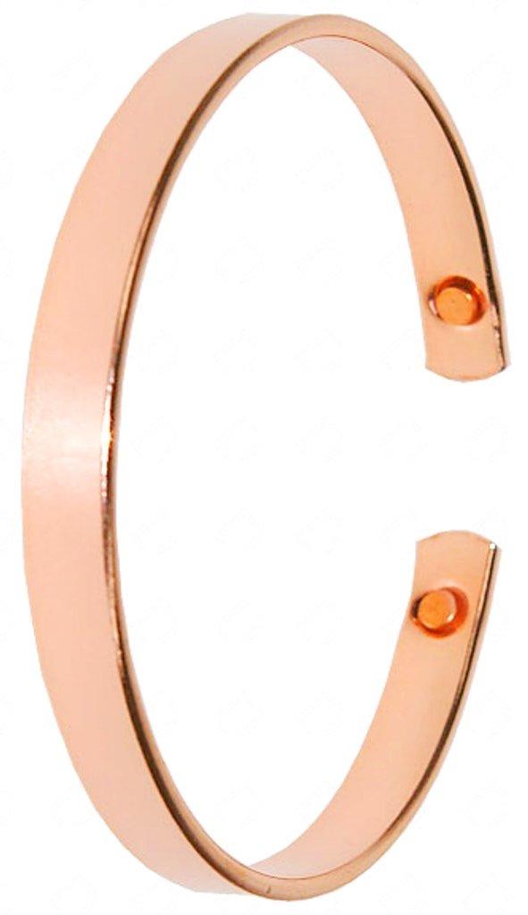 Bracelet Cuivre Plat avec Aimants ( 6 mm )