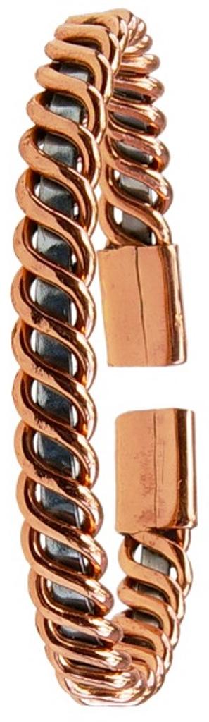 Bracelet cuivre et zinc Plat ( 7 mm )