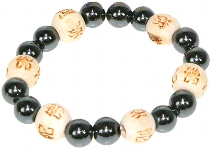 Bracelet Perles de karma Hématite ( Enfant )