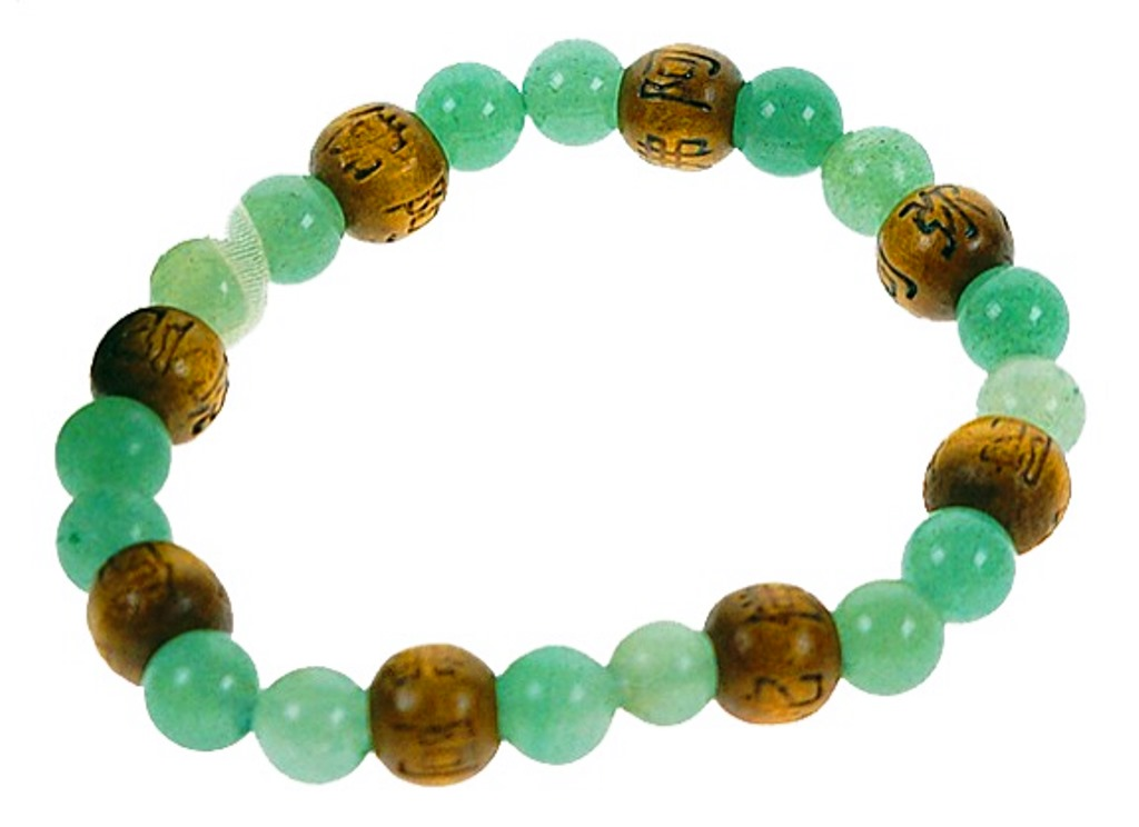Bracelet Perles de karma Aventurine ( Adulte )