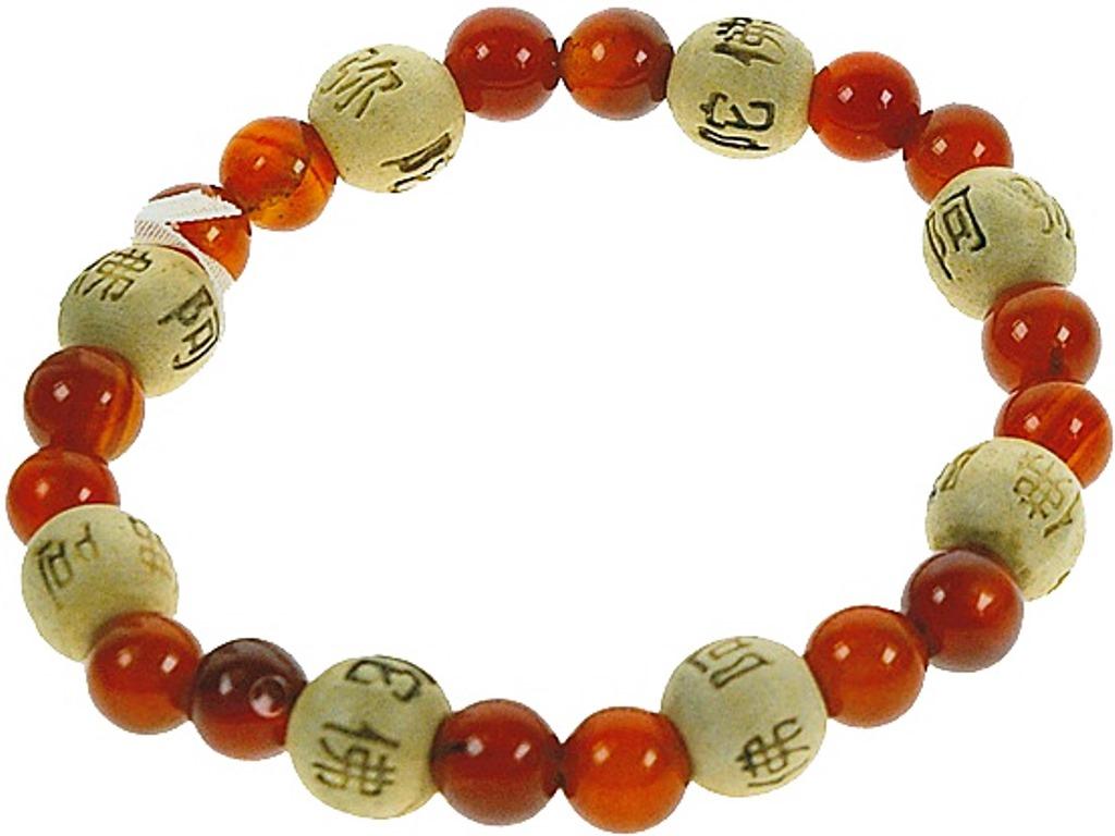 Bracelet Perles de karma Cornaline ( Adulte )
