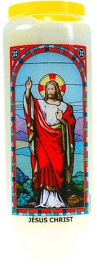 Bougie de Neuvaine ( Jésus Christ )