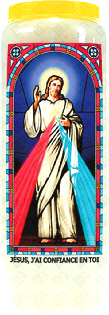 Bougie de Neuvaine ( Jésus, j\'ai confiance en toi )
