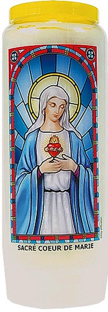 Bougie de Neuvaine ( Sacré coeur de Marie )