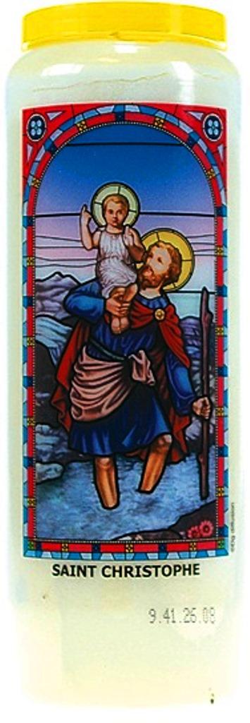 Bougie de Neuvaine ( Saint Christophe )